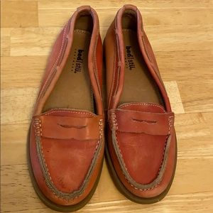 Pink loafer shoes